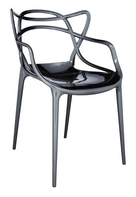 fauteuil empilable masters m 233 tallis 233 titane kartell