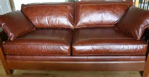 stickley furniture leather sofas stickley tooled leather sofa home garden 1