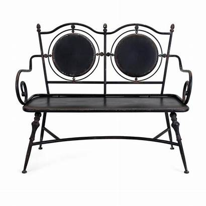 Bench Metal Indoor Modern Outdoor Distressed Finished