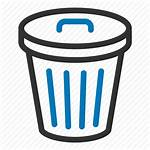 Bin Icon Trash Garbage Recycle Delete Outline