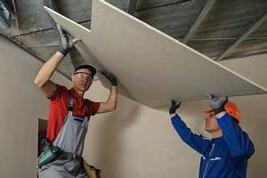 Pose D Un Faux Plafond En Ba13 : faire un faux plafond techniques de pose et astuces ~ Melissatoandfro.com Idées de Décoration