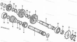 Honda Motorcycle 1978 Oem Parts Diagram For Transmission