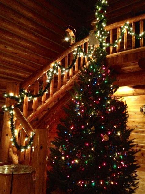 ideas  log cabin christmas  pinterest
