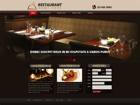 Php Homepage Template by Restaurant Website Template Free Restaurant Web