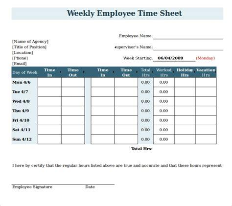 payroll timesheet templates samples