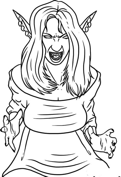 vampire girl coloring pages  printable cartoon