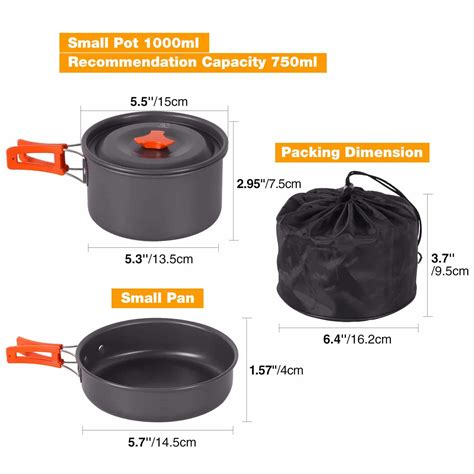 cookware camping piece survival