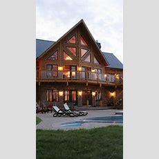 Log Home Exterior  Dream Home  Pinterest