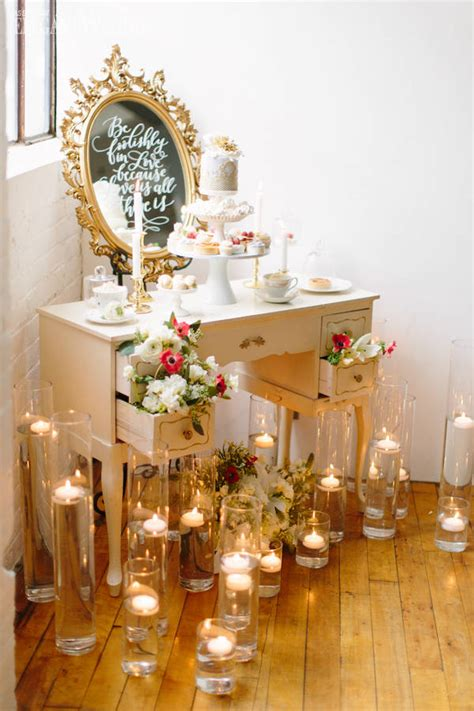 vintage wedding decor  timeless details