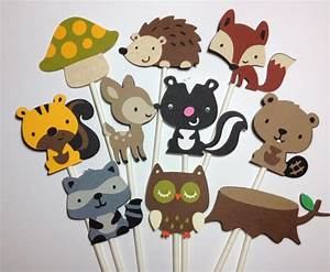 Set Of 24 Woodland Animal Cupcake Toppers~Forest Friends ...
