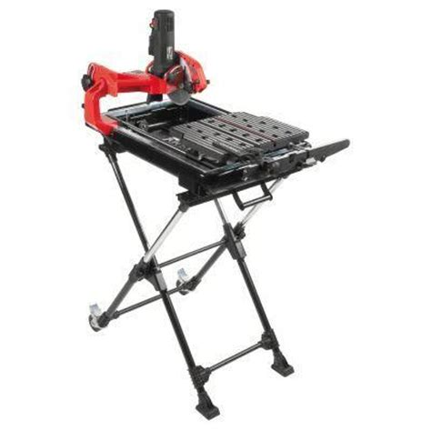 Husky Tile Saw Home Depot by Husky 7 In Tile Saw With Laser And Stand Discontinued