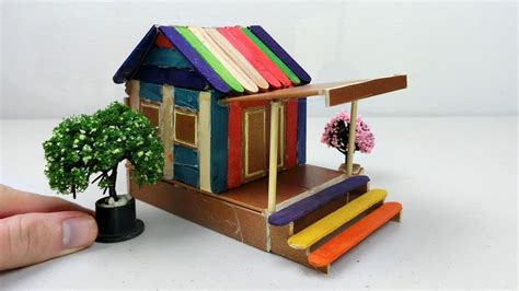 popsicle stick house  easy diy project youtube