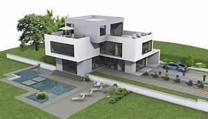 Grundriss Villa Modern : moderne h user grundriss 3d ~ Lizthompson.info Haus und Dekorationen