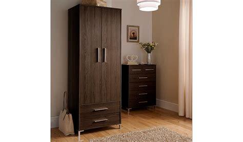 lowell  door wardrobe dark wood effect wardrobes