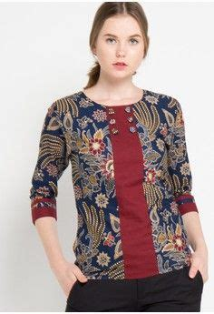 blouse bella  rianty batik  blue inspiring style