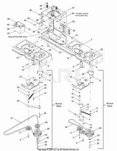 Mtd 13az608h131  2004  Parts Diagram For Pto Electric  Battery  Frame 1