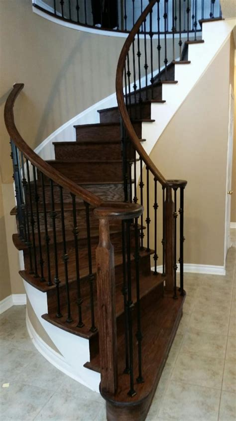 How To Refinish Stair Banister by Railings Stair Refinishing Toronto Railings Stair