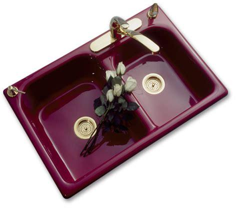 double bowl kitchen sinks porcelain   cast iron