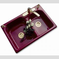 Double Bowl Kitchen Sinks  Porcelain Looks With Cast Iron