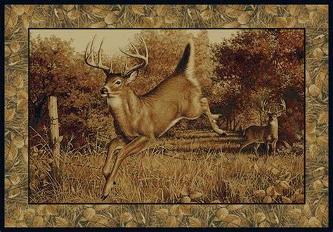 wildlife area rugs united weavers 132 41617 deer wildlife 2x3 area