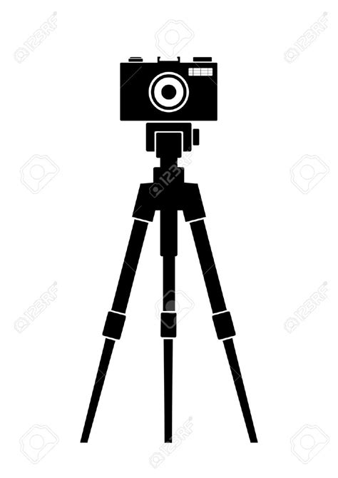 12238 photographer tripod silhouette photography clipart tripod pencil and in color