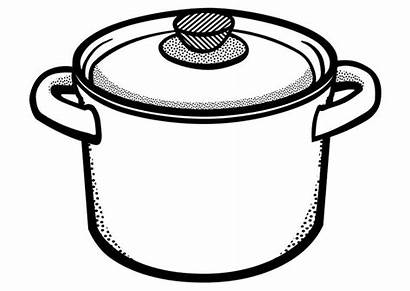 Pot Cooking Coloring Soup Colouring Pages Template