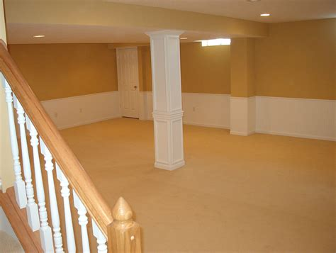 Small And Low Ceiling Basement Design After Remodel With