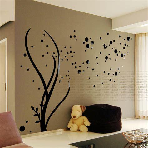 shipping  stars acrylic mirror wall stickers living