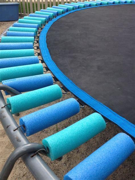pool noodles  cover trampoline springs