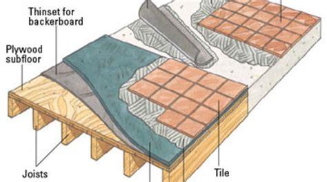 subfloor for tile subfloor for ceramic tile tile design ideas