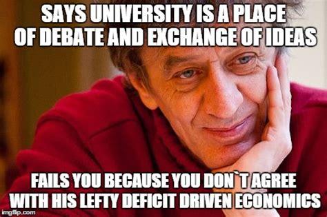 Economics Meme - really evil college teacher meme imgflip
