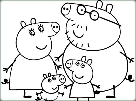 Peppa Pig Coloring Pages at GetColorings com Free