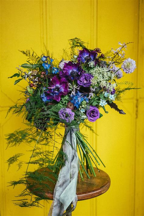 Purple Reign Wedding Bouquets Inspired By Pantones Color