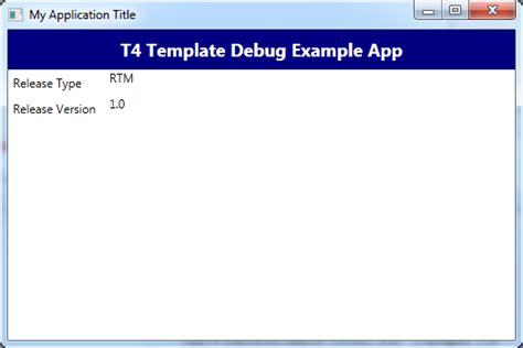 t4 template muhammad shujaat siddiqi visual studio 2012 debug t4 template