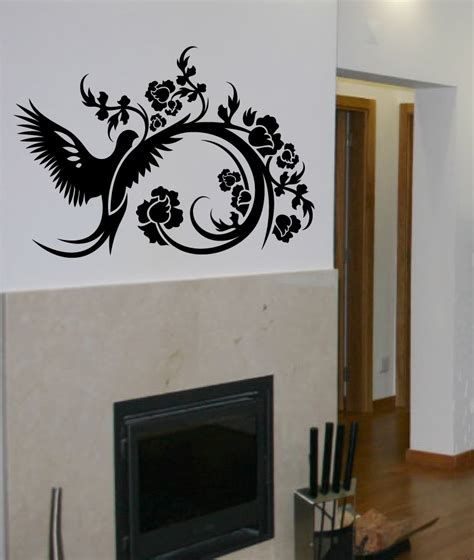 decals by digiflare wall decal tree branch birds leaves sticker mural