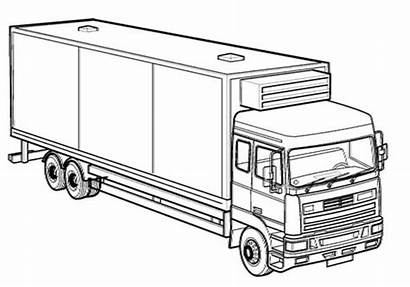 Coloring Truck Box Trucks
