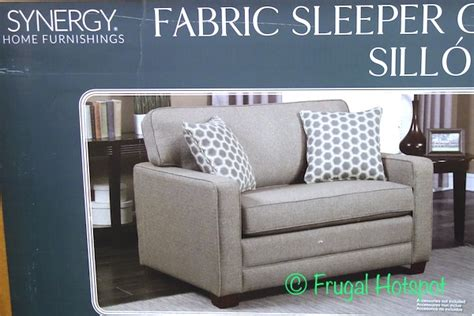 synergy home sleeper sofa costco synergy home chair with twin sleeper 499 99
