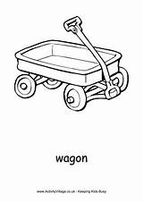 Wagon Colouring Pages Coloring Toy Print Activity Transport Activityvillage Little Toys Birthday Sheets Flyer Village Alphabet Craft Explore 2nd sketch template