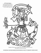 Coloring Dance Irish Pages Dancer Belly Coloringhome sketch template