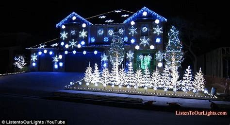 christmas led light show home owner unveils gangnam style christmas lights show