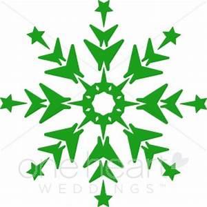 Green Snowflake Clip Art | Snowflake Wedding Clipart