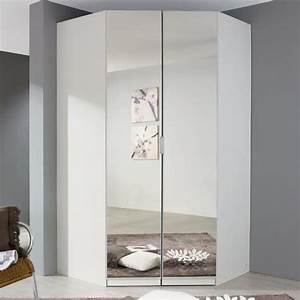 Eckkleiderschrank eckschrank spiegel wei kleiderschrank for Eckschrank schlafzimmer weiss
