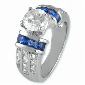 the look of real 3ct bridal clear sapphire cubic With cubic zirconia wedding rings that look real