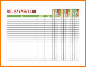 5 bill payment record template sample travel bill With bill payment record template