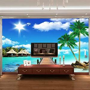 aliexpresscom buy ocean scenery coconut photo wallpaper With balkon teppich mit tapeten wall art