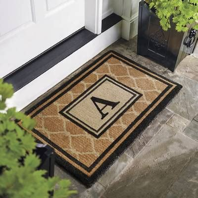champlain monogrammed coco mat frontgate