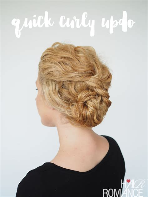 2 min updo for curly hair hair