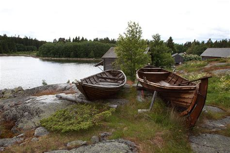 Old Boat Lights For Sale by Old Wooden Rowing Boats Photograph By Ulrich Kunst And