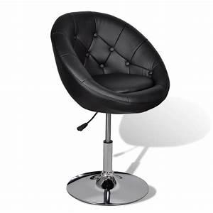 La boutique en ligne fauteuil retro capitonne noir pied for Fauteuil tulipe