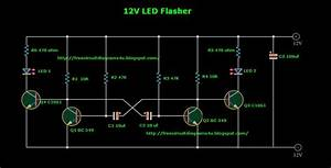 Free Circuit Diagrams 4u  12v Led Flasher For Cars